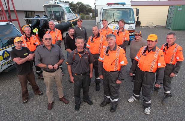 Paul Rennie second from left in back row with Marlborough SAR volunteers. Image: Scott Hammond/The Marlborough Express
