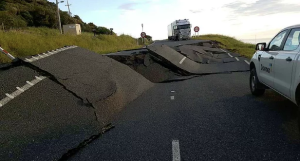 Road damage. Image: Downer